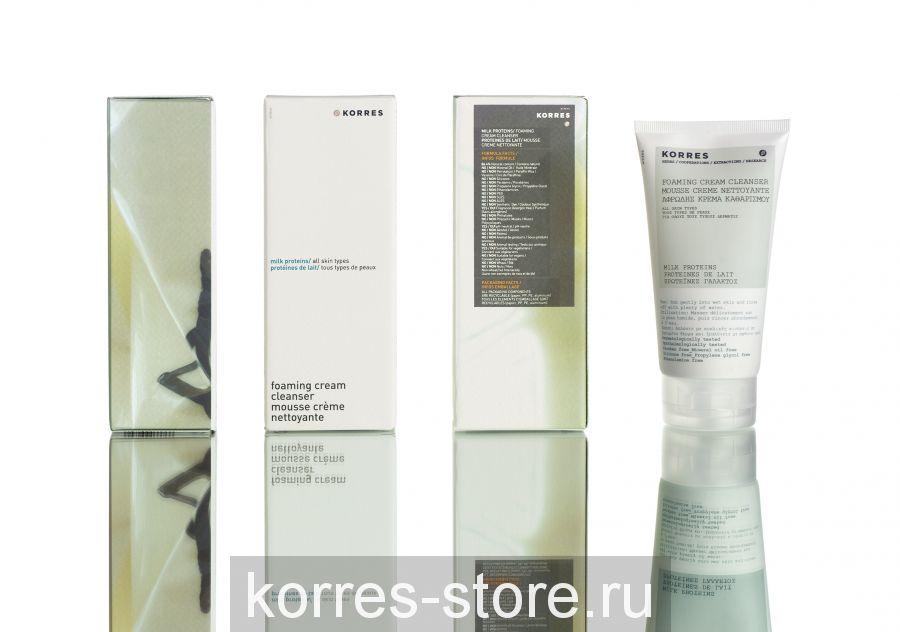 Korres Нежная очищающая крем-пенка для всех типов кожи 150мл