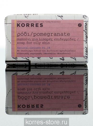Korres Мыло Гранат для жирной кожи для лица и тела