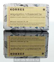 Korres Ромашка Смягчающее мыло для лица и тела