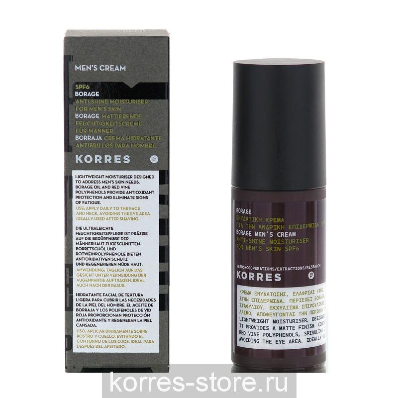 Korres Увлажняющее матирующее средство SPF 6 Огуречник аптечный